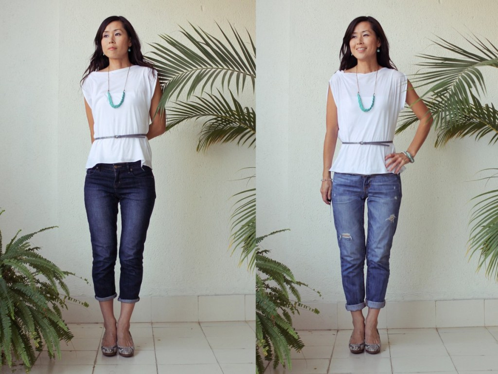 Monday Mode ☆  iSanctuary Blue Braided Necklace With Zara white shirt & two kinds of jeans