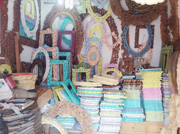 colorful wood carving frames in Mumbai