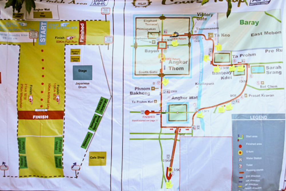Angkor Wat International Half Marathon map