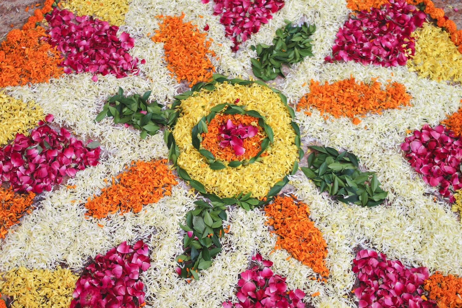 Flower Rangoli Making-21