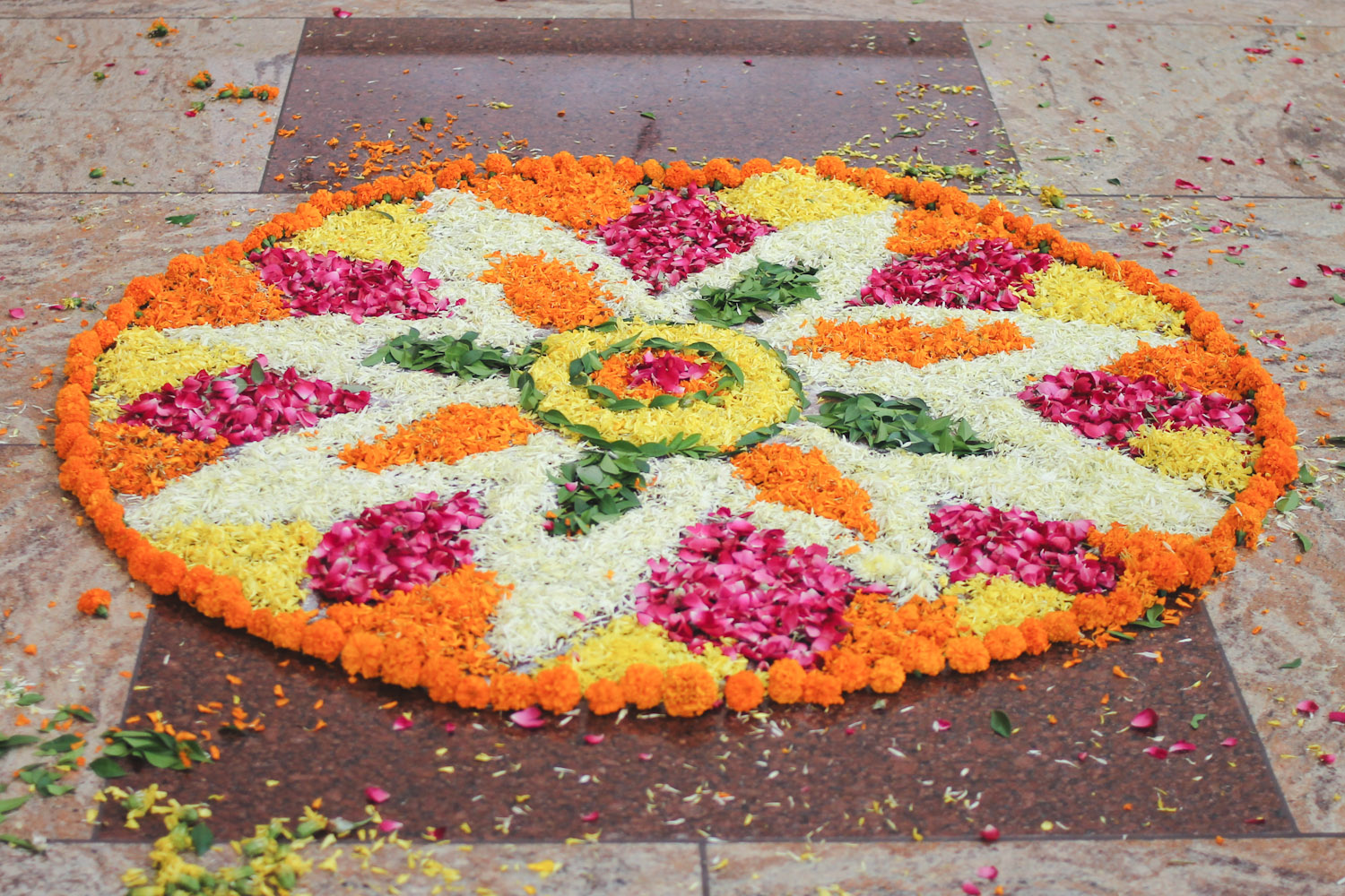 Flower Rangoli Making-22