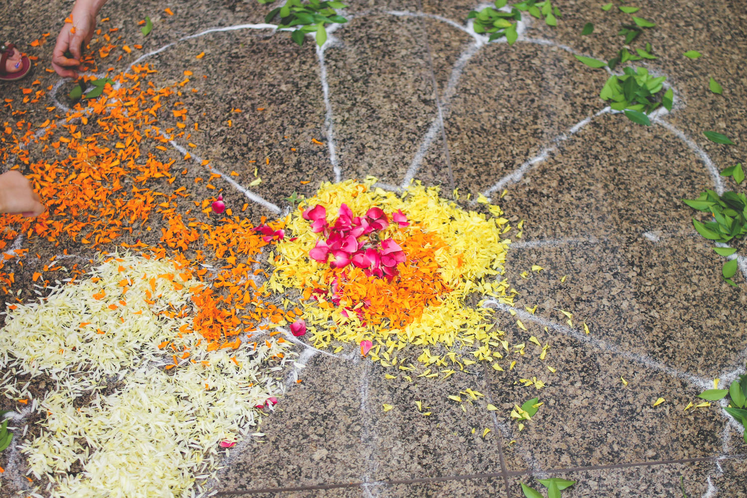 Flower Rangoli Making-3