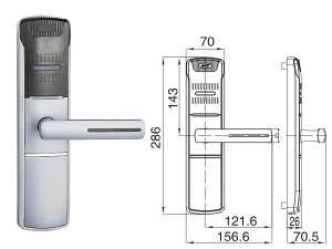 CHZ-HU 918 3 Elektronické čipové zámky