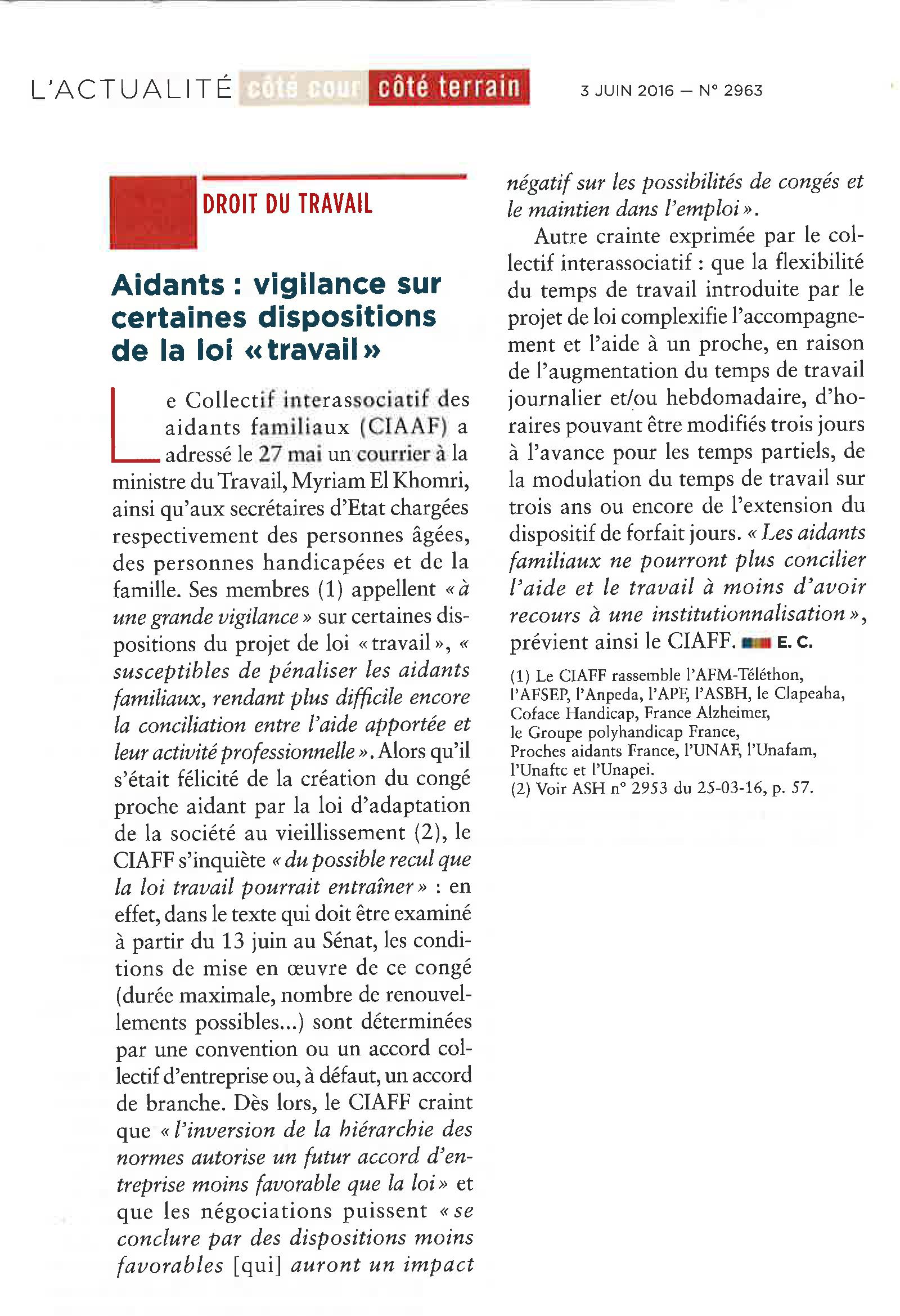 5b15ac7a341 Le CIAAF appelle à la vigilance sur certaines dispositions de la loi travail