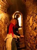 Nel passaggio secreto del Castello di Dracula