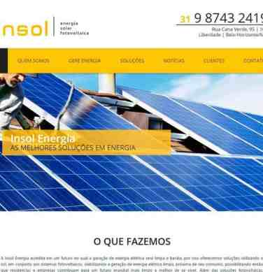 Criação do site institucional