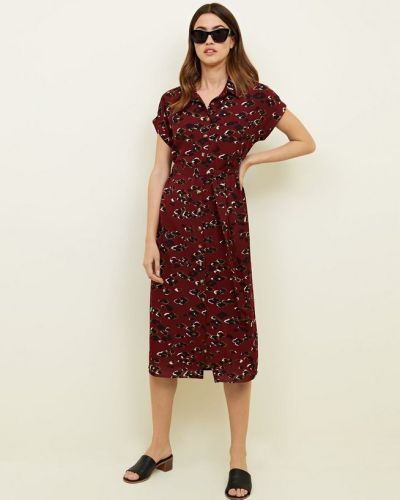 red-leopard-print-midi-shirt-dress-