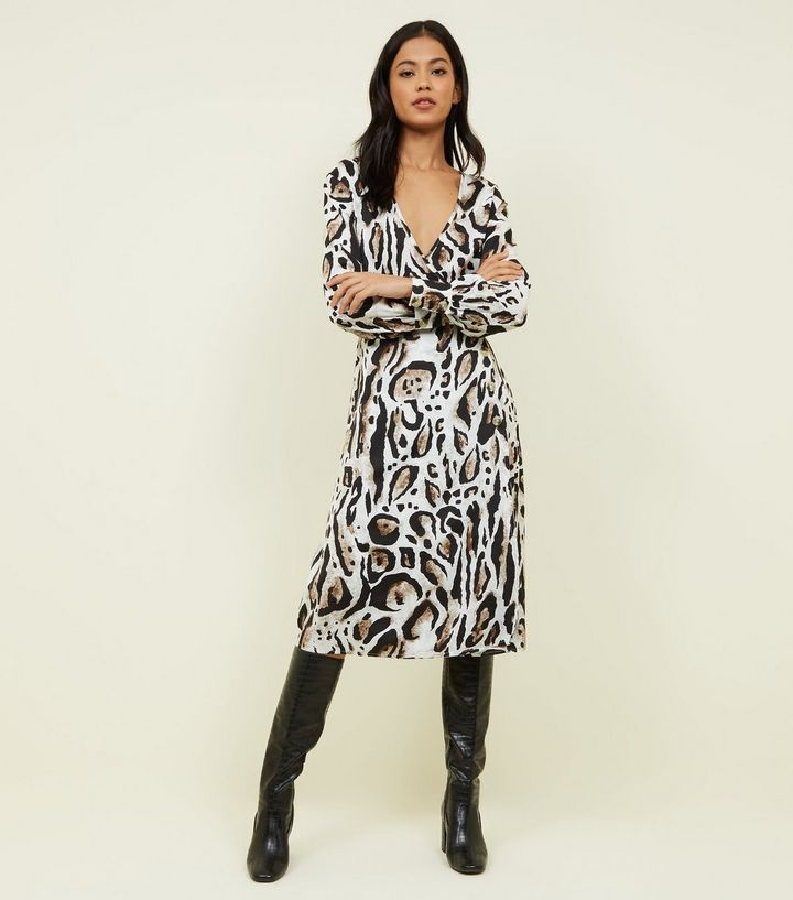 influence-brown-leopard-print-wrap-dress-