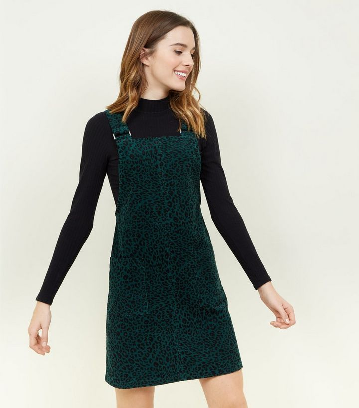 green-leopard-print-corduroy-pinafore-dress