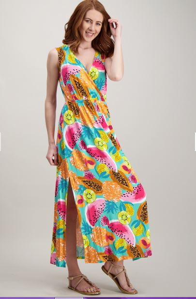 Tu fruit wrap dress