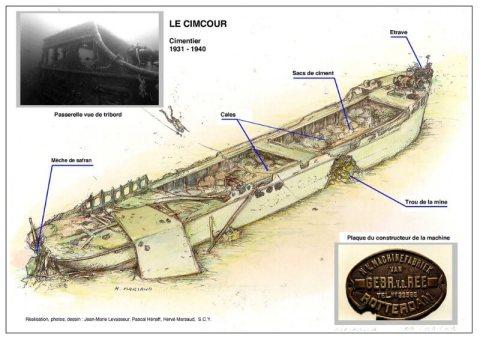 Découverte incroyable sur l'épave du CIMCOUR (Vendée)