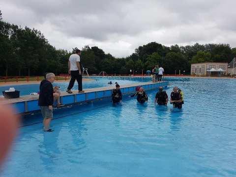 Baptèmes de plongée  à la piscine des Ponts de Cé le samedi 3 juillet 2021 matin