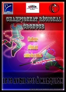 Affiche du championnat régionale et débutante 2013