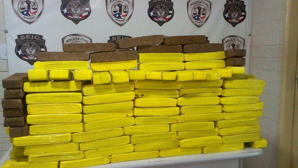 Polícia Civil apreende 150 kg de maconha no Maranhão