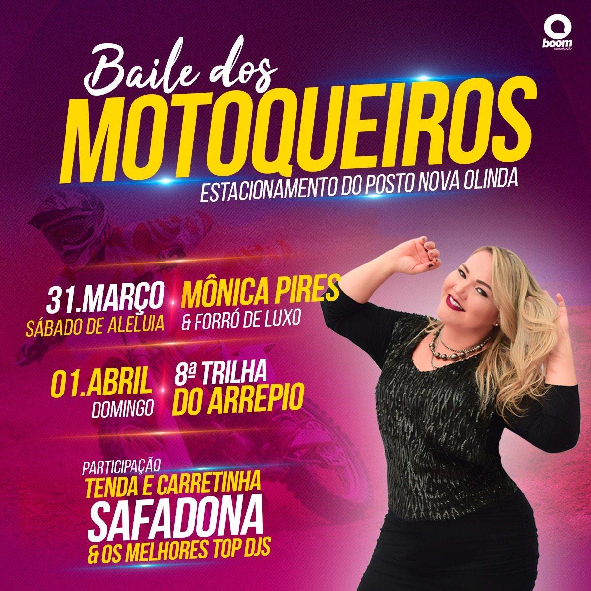 Baile dos motoqueiros abre oficialmente a 8ª trilha do Arrepio em Nova Olinda do Maranhão neste sábado (31)