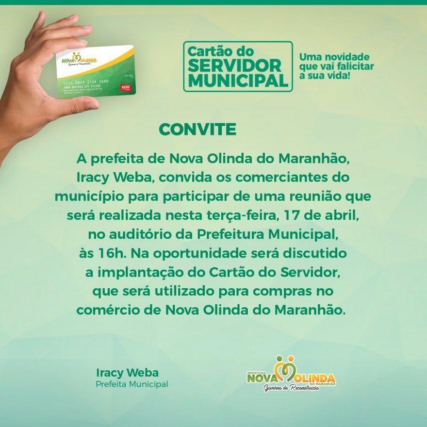 Gestão municipal e empresários de Nova Olinda do Maranhão discutirão a implantação do cartão do servidor