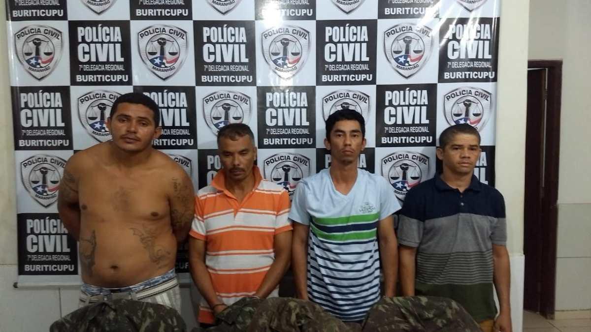 Polícia Civil captura cinco suspeitos do arrombamento de agência de Buriticupu-MA