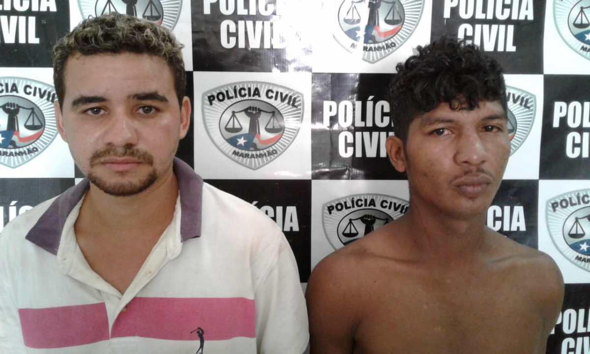 Guarnição da PM de Nova Olinda do Maranhão prende dupla acusada de assalto