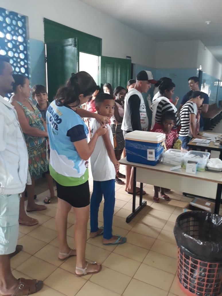 Realizado o dia D de vacinação contra o Sarampo em Nova Olinda do Maranhão