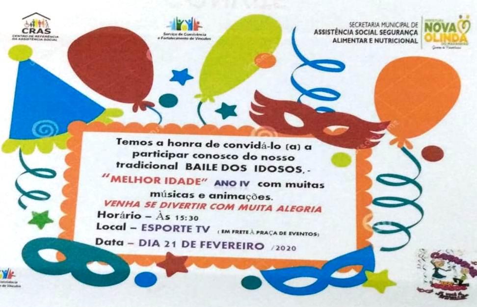 Secretaria Municipal de Assistência Social promove o carnaval da melhor idade nesta sexta-feira (21)