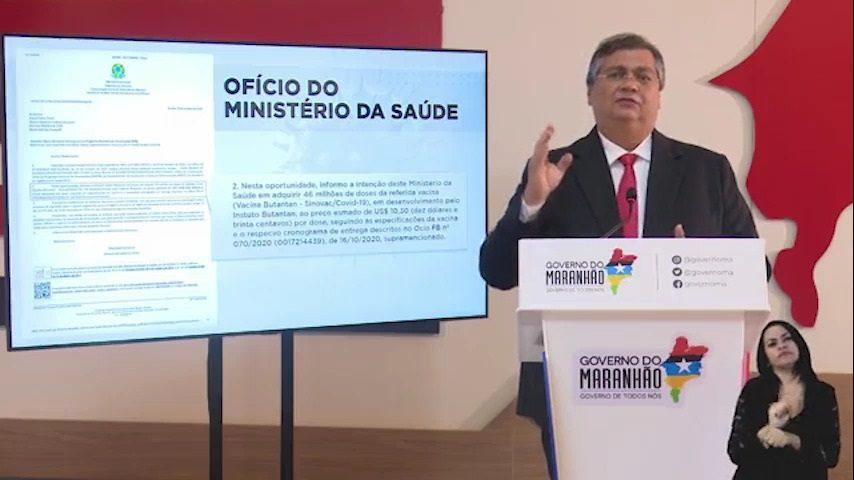 Governador Flávio Dino anuncia ações para compra da vacina contra o novo coronavírus