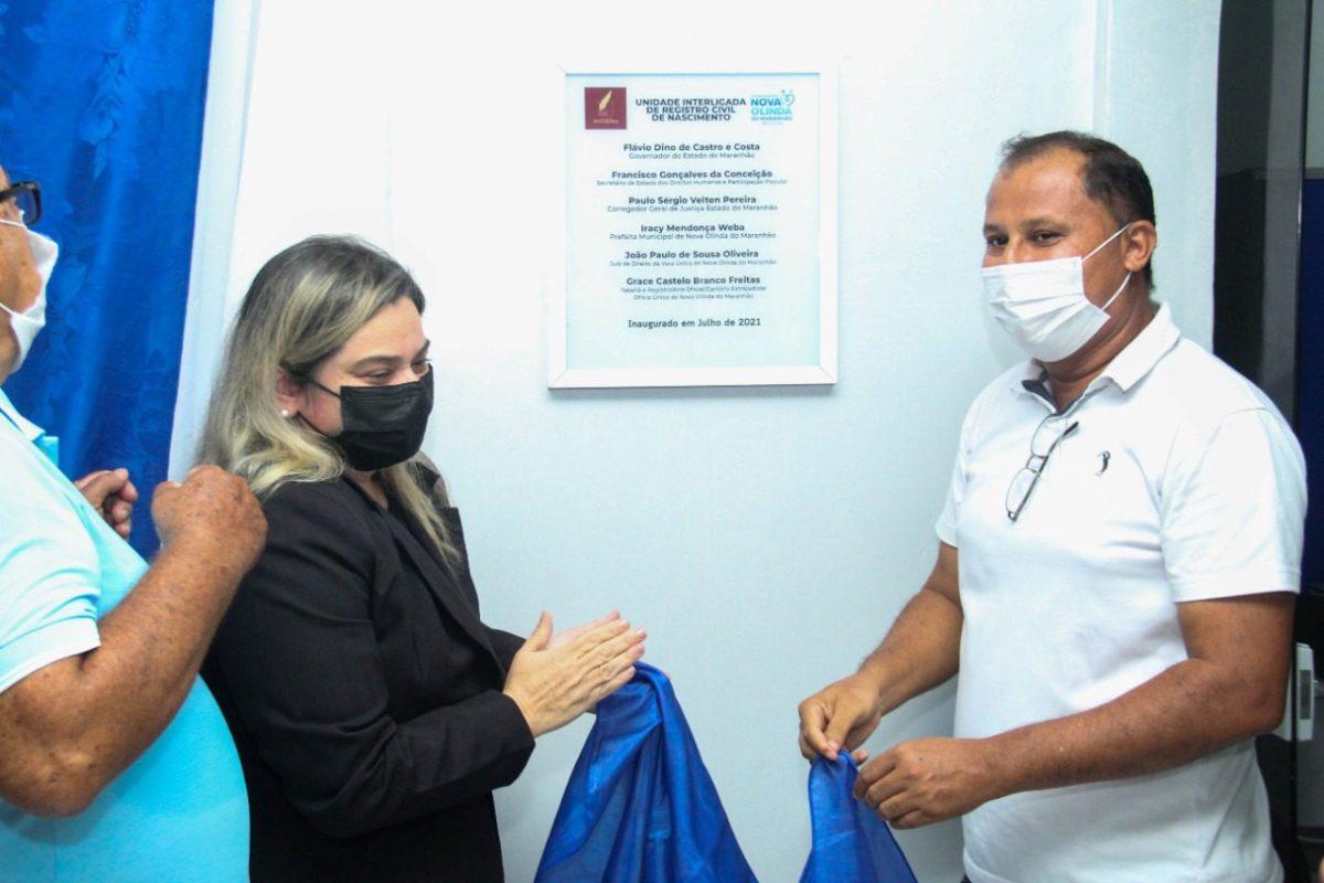 Inaugurada a Unidade Interligada do Registro Civil de Nascimento no Hospital de Nova Olinda do MA