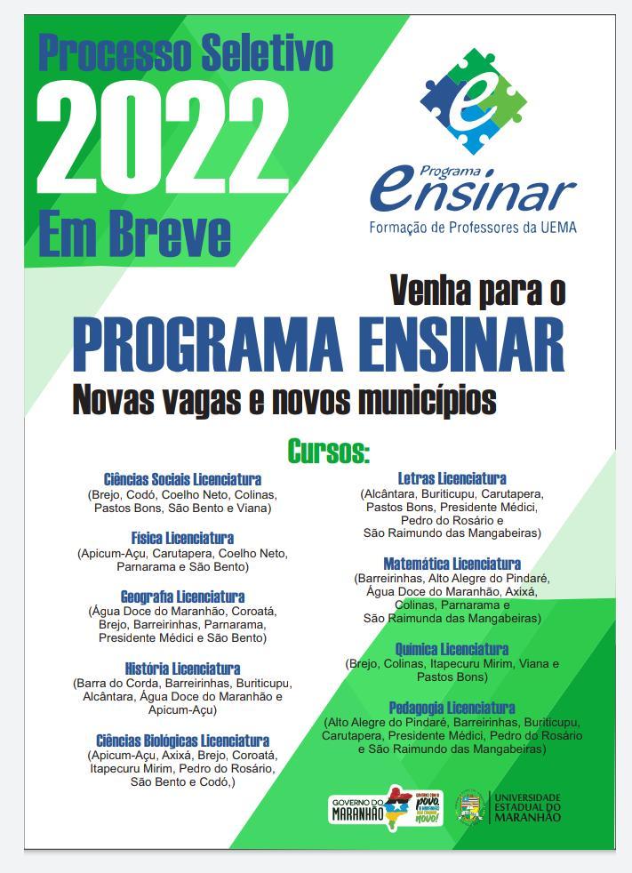 Programa Ensinar – UEMA chega a Presidente Médici com edital previsto para novembro de 2021