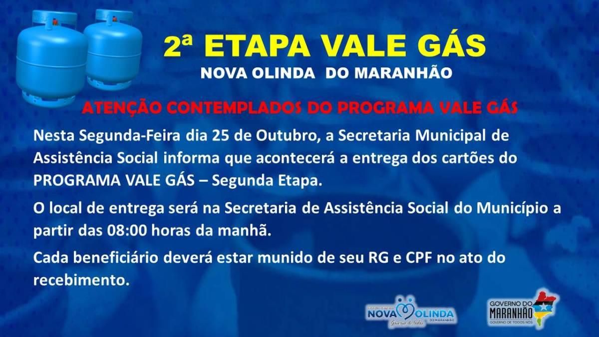 Programa Vale Gás inicia 2ª etapa dia 25 em Nova Olinda do MA