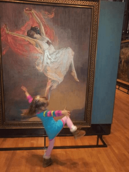 child in a museum