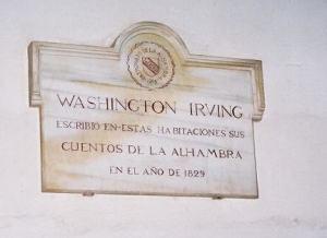 Placa Washington Irving