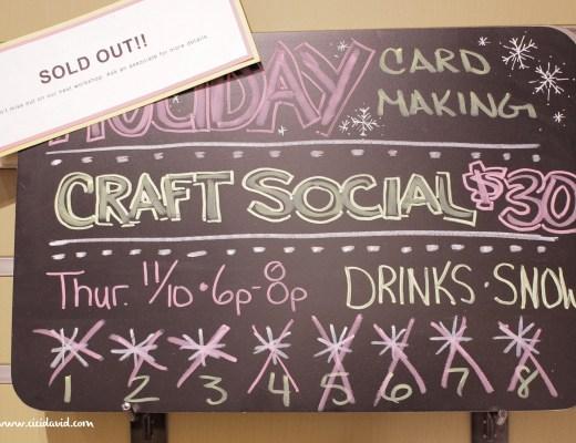 Holiday Card Making Craft Social at Paper Source