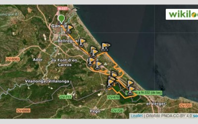 Ruta mountain bike Gandía – Font Salada – Marjal Pego-Oliva – Playa de Oliva (Marxa Marjalera II)
