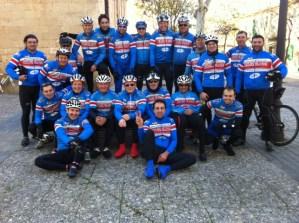 Foto con el grupo ciclismo de mallorca PalanKas. Salida de fin de año