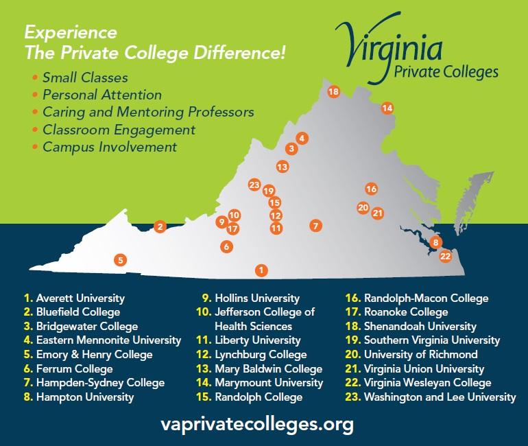 Colleges In Virginia Map Map of Virginia Colleges and Universities – highlandspringsaca