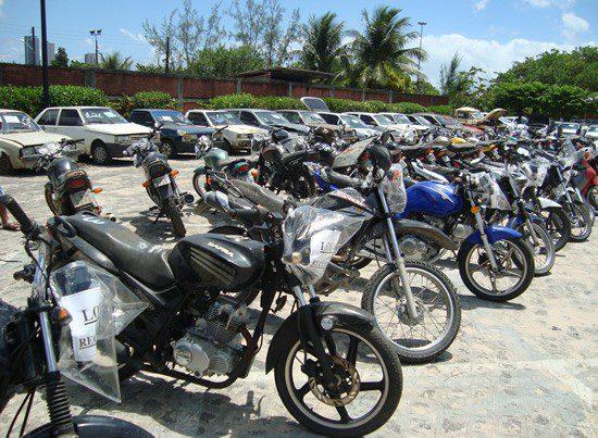 Leilão de motos do Detran