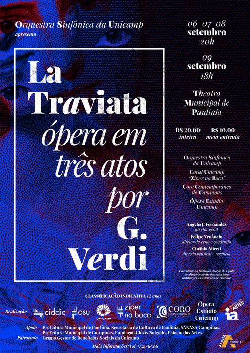 Cartaz ópera La Traviata