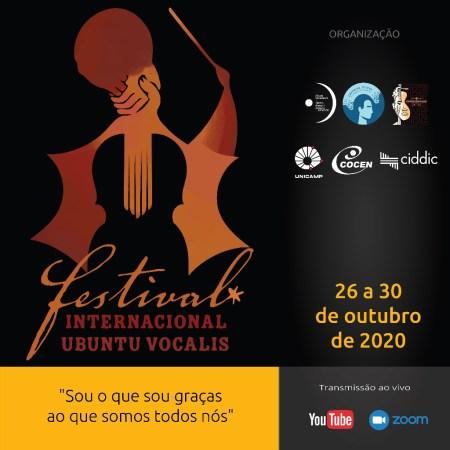 cartaz divulgação Festival Internacional Ubuntu Vocalis