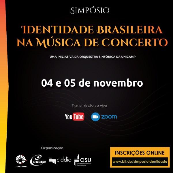 Cartaz Divulgação Simpósio Identidade Brasileira na Música de Concerto