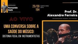 Cartaz Uma conversa sobre a saúde do músico - Encontros OSU
