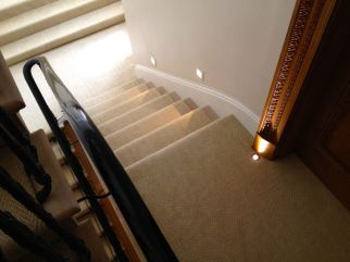 Linen carpet Knightsbridge Stairway