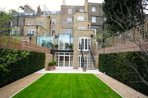 Multi storey extension and garden landscaping Knightsbridge