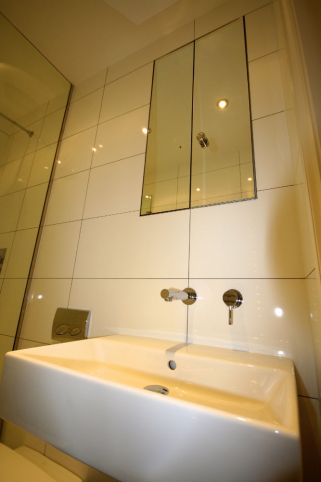 White modern Bathroom in Chelsea