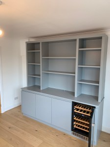 Bookcase with integrated drinks cooler