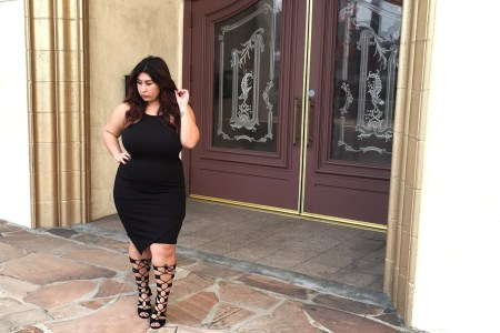 little black dress, plus size outfits, outfits, night time outfit, heels, chic, edgy