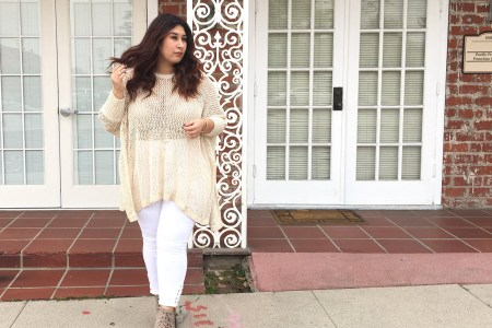 Spring outfits, spring, look, plus size, plus size outfits, sweater, neutrals, monochramatic