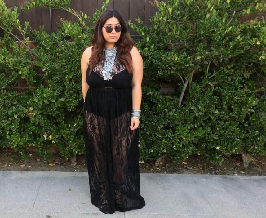 black dress, lace dress, sheer, dress