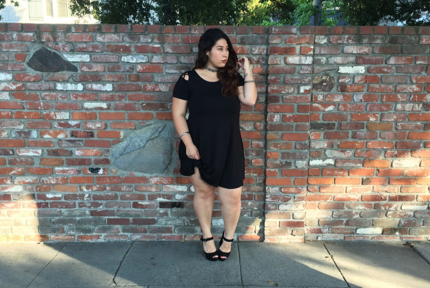 black dress, forever 21 plus