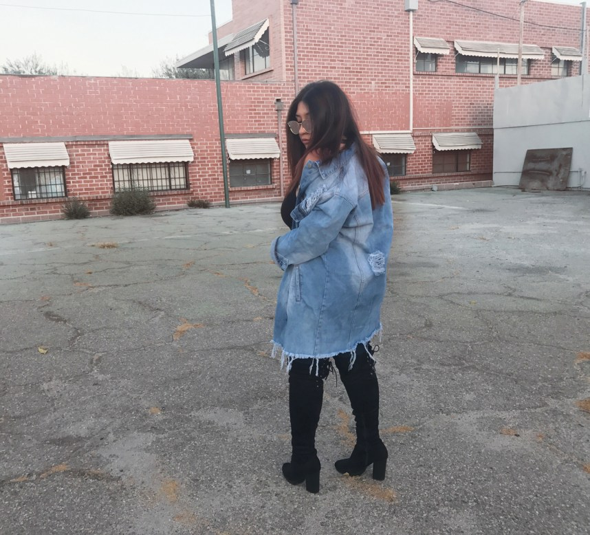 distressed denim, jacket, denim