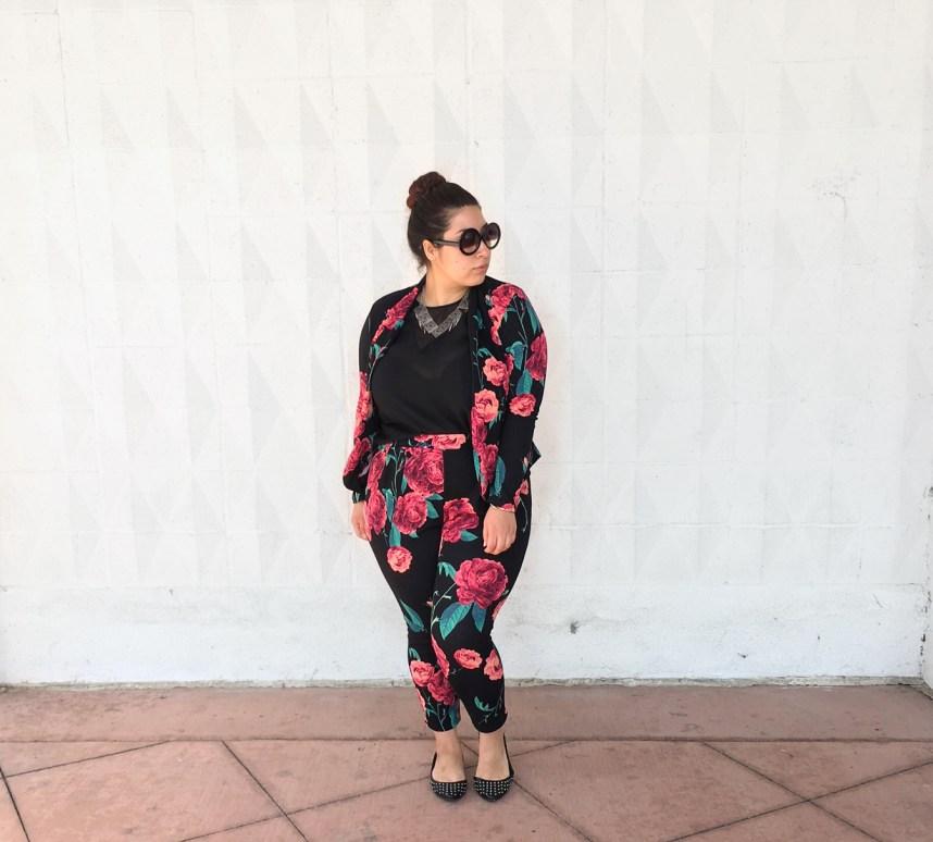 floral print, matching set, fall print