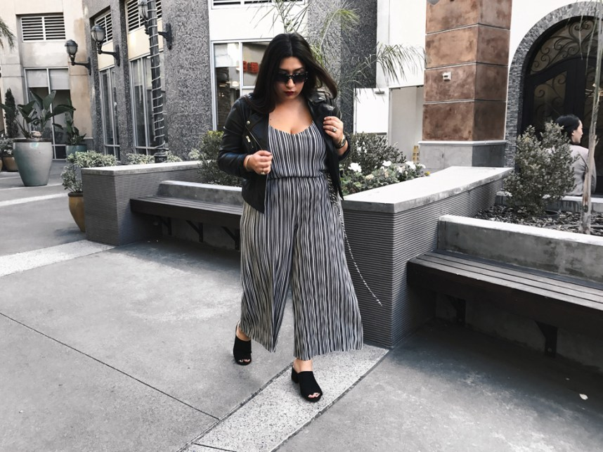 stripes, black and white outfit